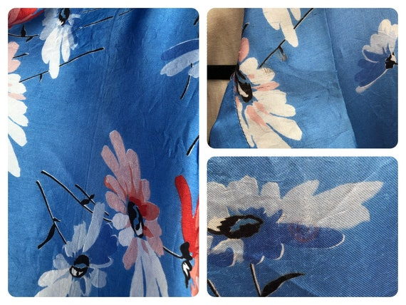 Beautiful 1930's Floral Satin Dressing Gown - image 5