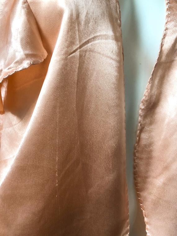 Sweet 1930's Silky Crepe Bolero - image 5