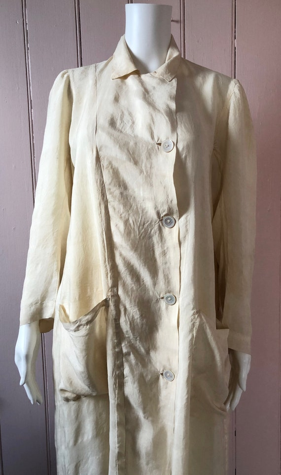 Fantastic Late Edwardian Silk Dust Coat