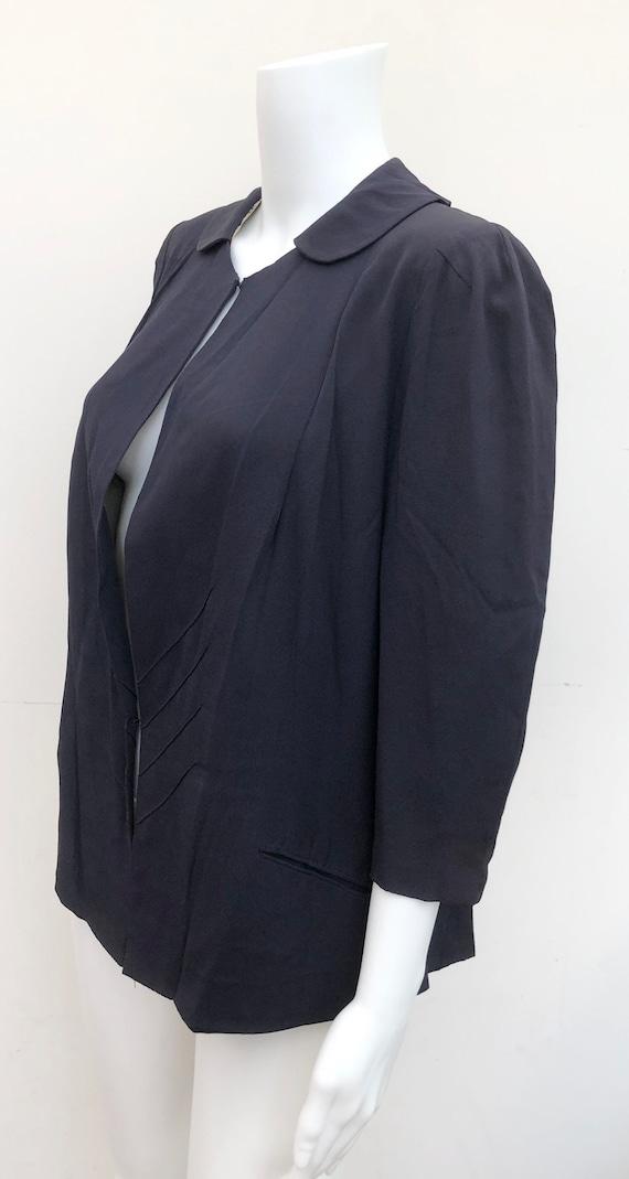 Rare 1930's Navy Paquin Crepe Jacket