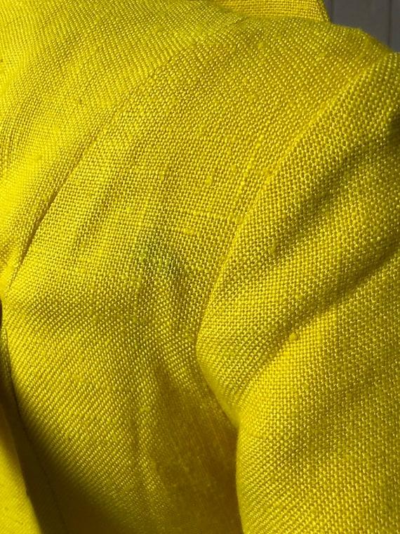 Bright yellow 1960's Wallis Dress - image 7