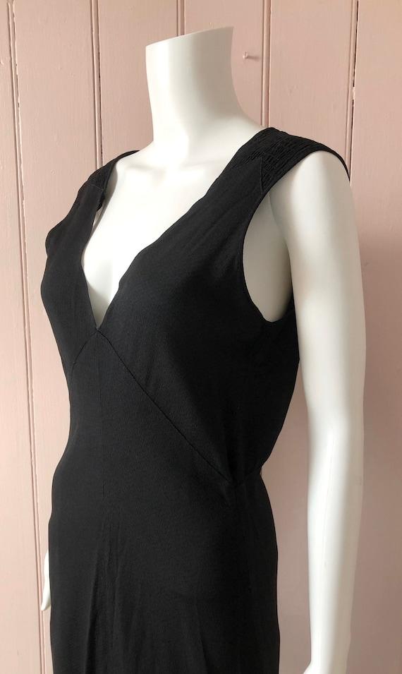 Fantastic Black 1930's Bias Cut Evening Gown