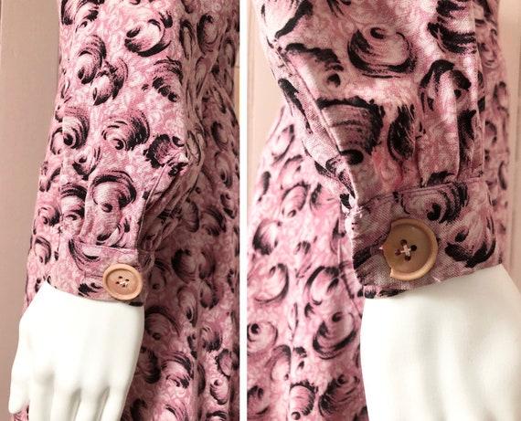 Fantastic 1940's Moygashel Pink Dressing Gown - image 6
