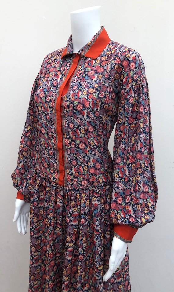 Stunning 1930's Silk Patterned Day Dress