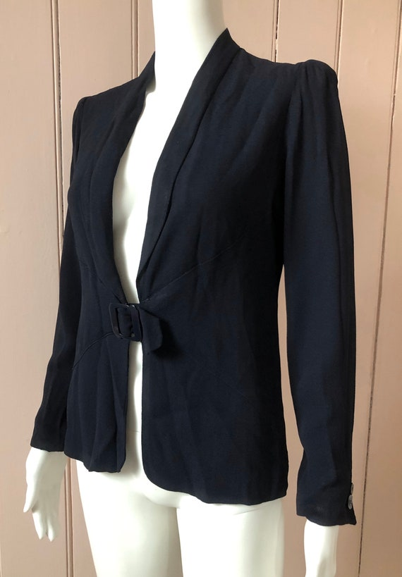 Stylish 1930's Fitted Crepe Jacket