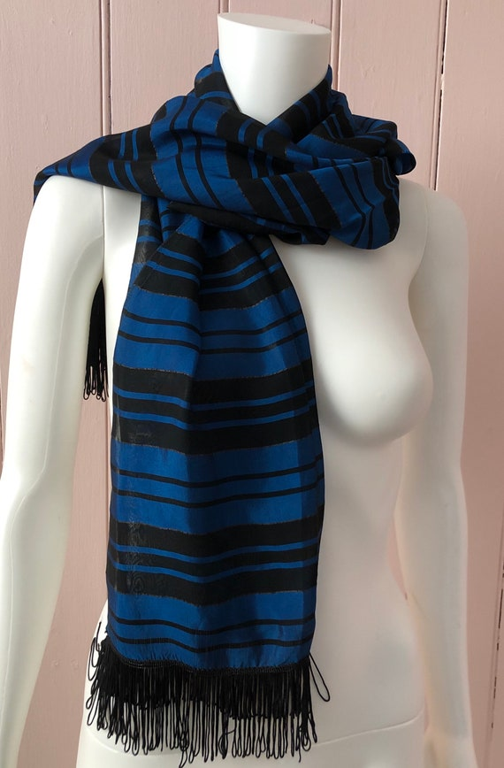 Lovely 1930's Striped Scarf
