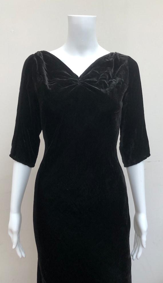 Beautiful Black 1930's Silk Velvet Gown