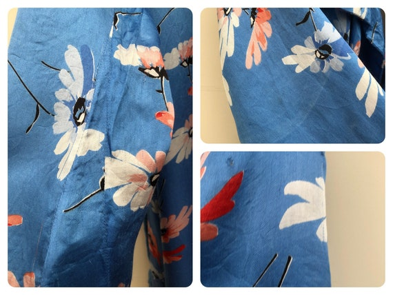 Beautiful 1930's Floral Satin Dressing Gown - image 4