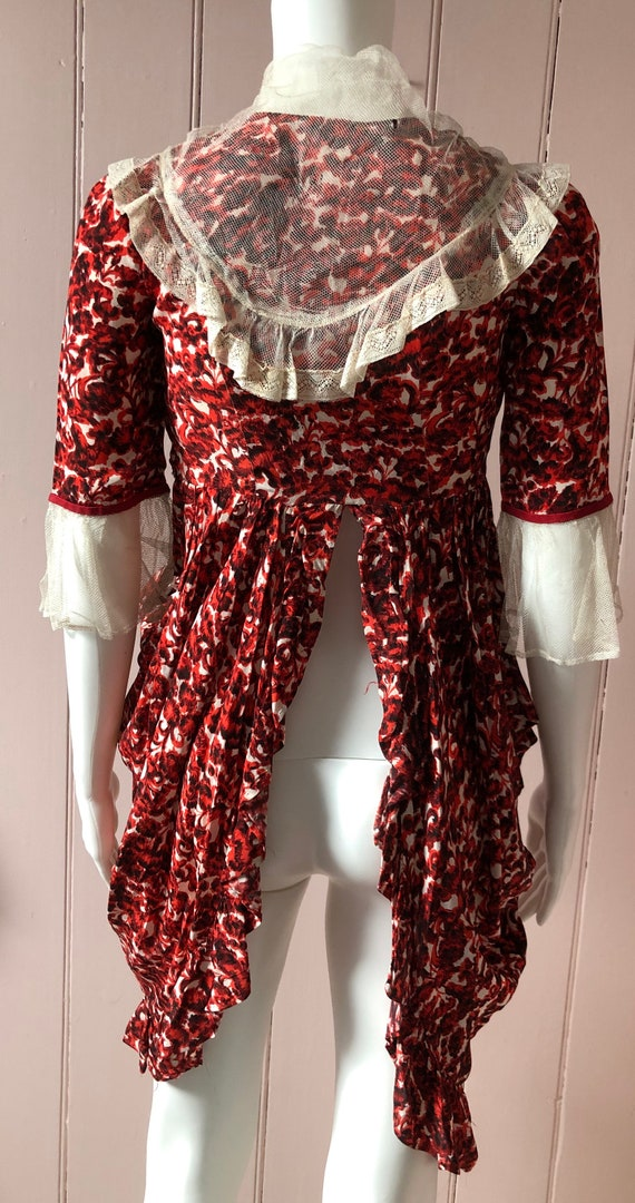 Pretty 1940's Floral Blouse/Overskirt - image 7