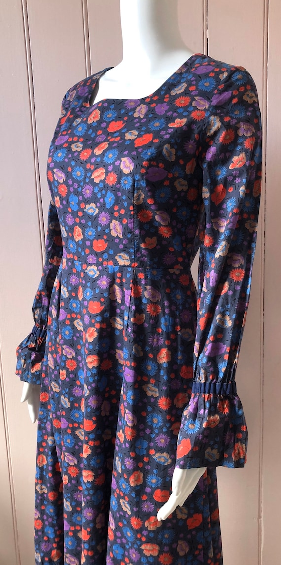 Fantastic 1970's Liberty Print Maxi Dress