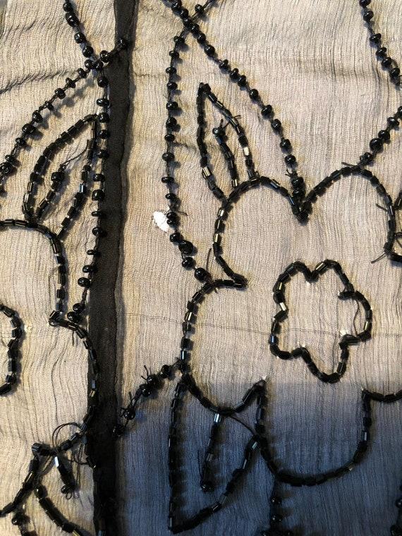 Superb 1920's Silk Chiffon Beaded Jacket - image 10