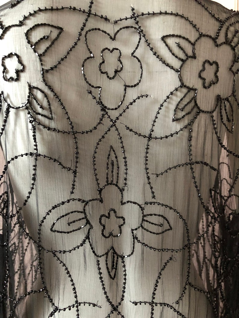 Superb 1920\u2019s Silk Chiffon Beaded Jacket