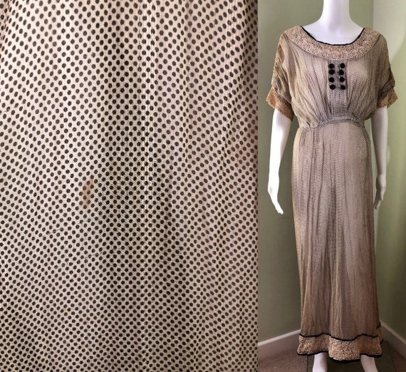 Amazing Edwardian Dress with overskirt - image 8