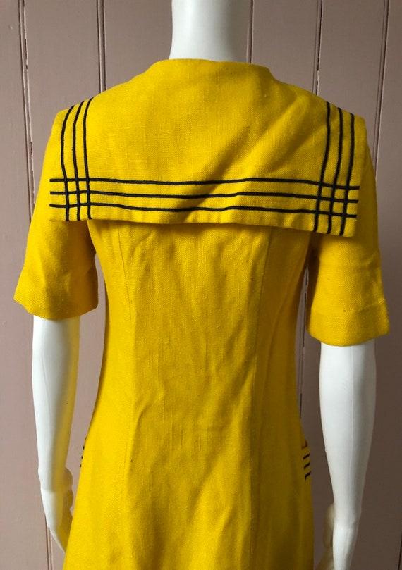 Bright yellow 1960's Wallis Dress - image 5