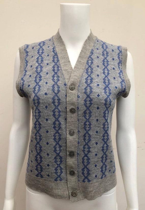 Fantastic 1940's Knitted Waistcoat