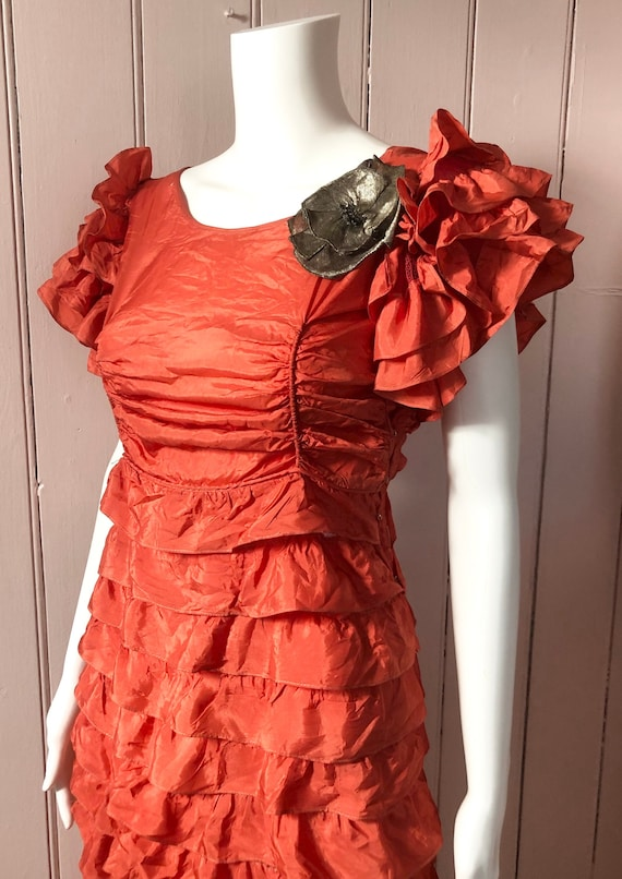 Beautiful 1930's Ruffled Gown