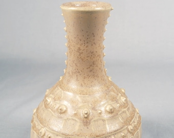 Richard Vincent, vintage porcelain vase with hobnail slip finish