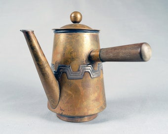 Taxco, Copper and Silver, Mexican Chocolate Pot, Chocolate warmer