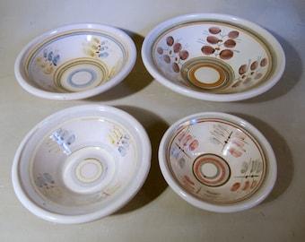 Scandinavian Pottery, Kupittaan Savi Nesting Bowls, Finland, 1918-1969