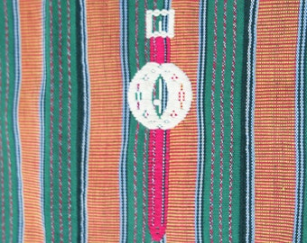 Vintage African Textile, Ewe Kente with Fanti motifs by the Ashanti people, agbamevo, Ghana