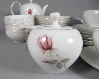 Eva Zeisel, Pink Rose Havilailand China Set, 39 pcs!