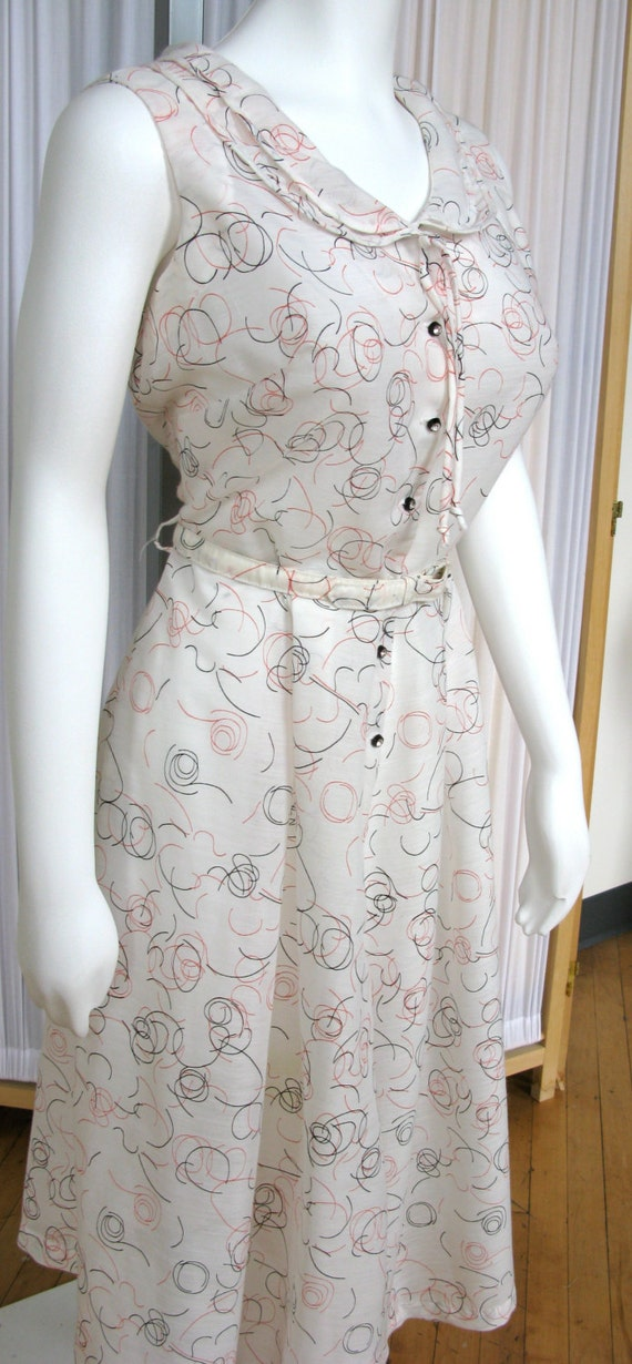 Vintage 1950's Dress Novelty Print