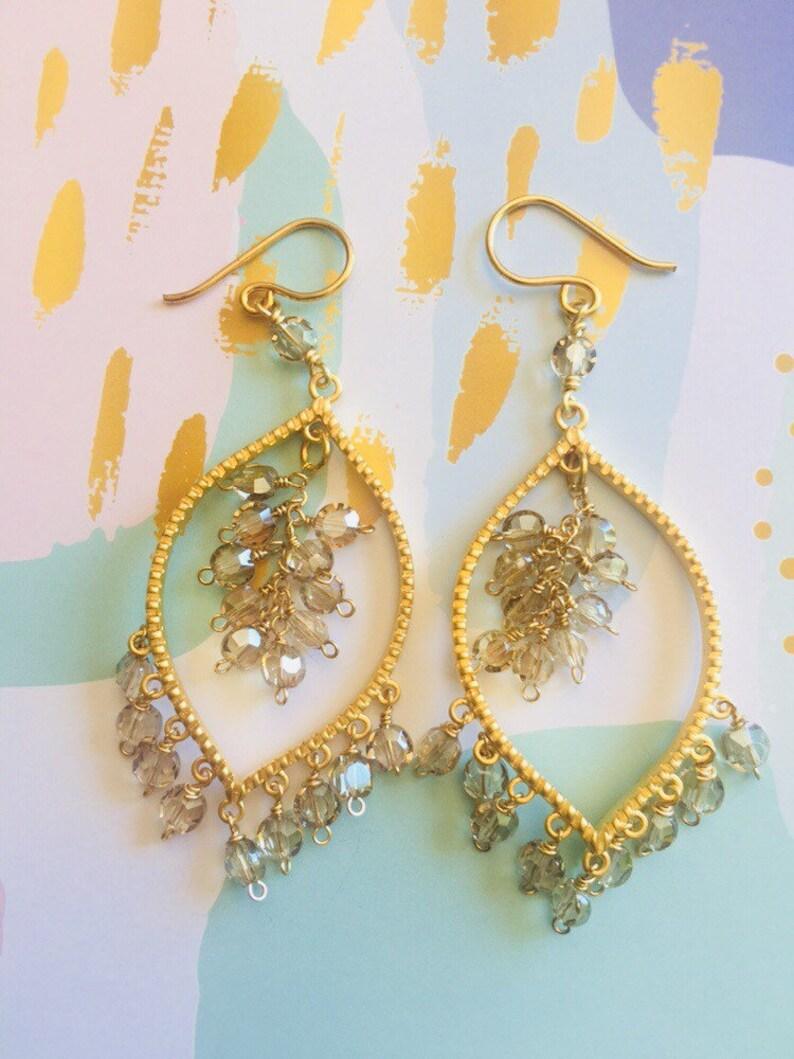 Champagne Chandelier Earrings