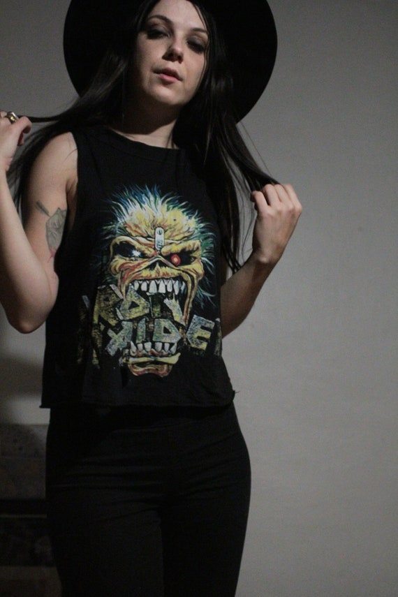 1988 Iron Maiden Muscle Tank / Vintage Band Tee /… - image 2