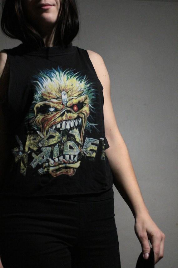 1988 Iron Maiden Muscle Tank / Vintage Band Tee /… - image 9
