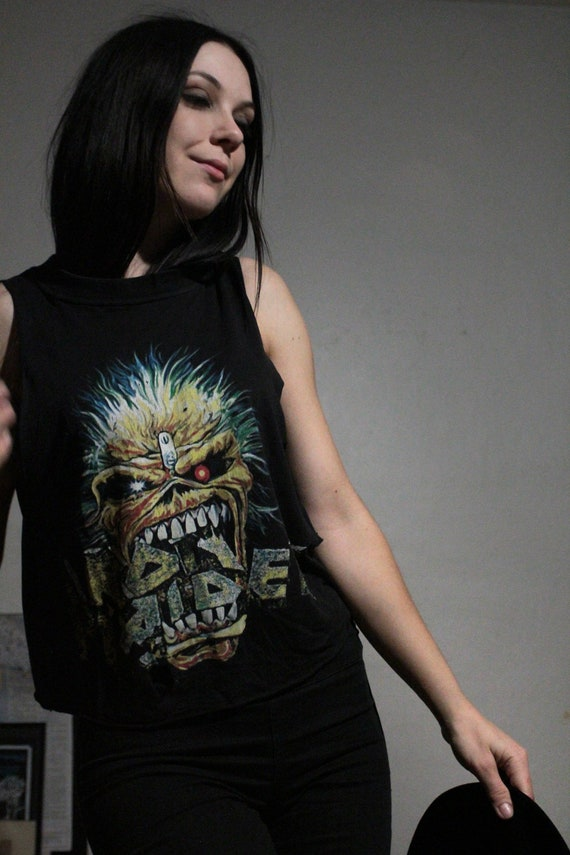 1988 Iron Maiden Muscle Tank / Vintage Band Tee /… - image 7