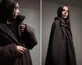 Insulated long puffer jacket /  Y2K minimalist winter jacket / Oversized parka PLUS SIZE