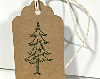Tree tags for Christmas gift wrapping, package of 10