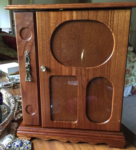 Wooden Jewelry Box From 1960s With Picture Frame Feature Etsy