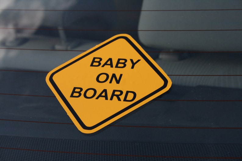 Baby on Board Sticker / Window Decal  Any Language image 0