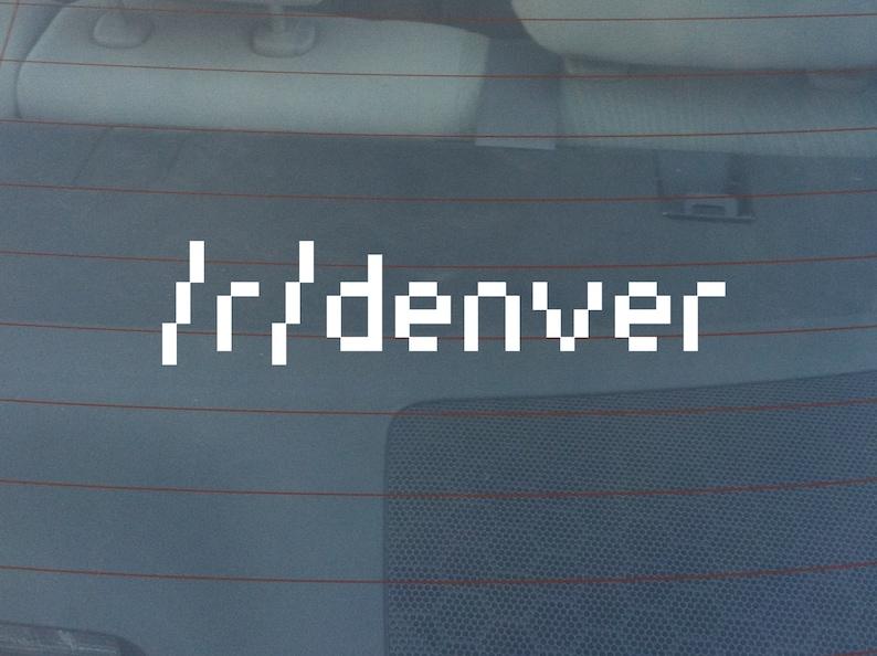 Subreddit 8 Bit Font Bumper Sticker / Window Decal image 0