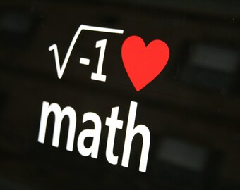 I love Math Bumper Sticker / Window Decal