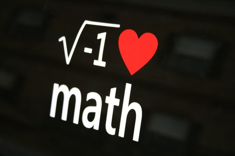 I love Math Bumper Sticker / Window Decal image 0