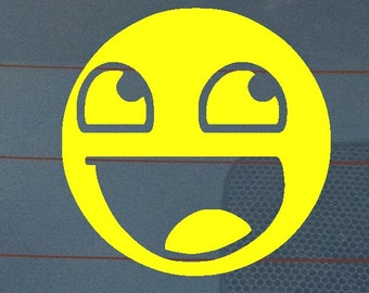 Awesome Smiley Vinyl Decal