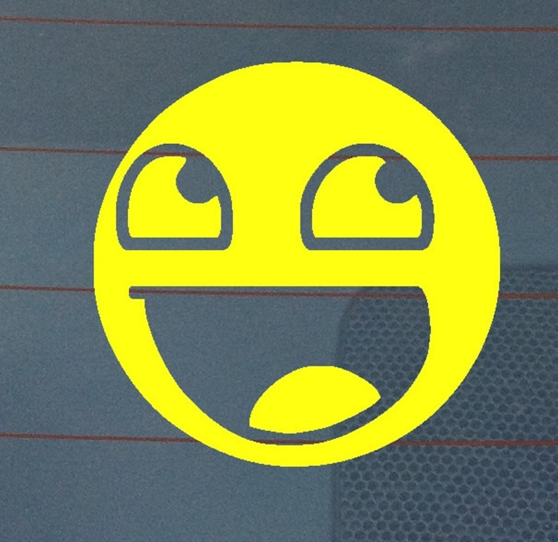 Awesome Smiley Vinyl Decal image 0