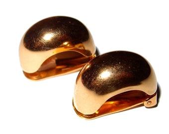 Gold Half Hoops CHRISTIAN DIOR Vintage Clip-on Earrings