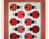 Lily's Ladybugs – Ladybug Quilt Pattern – Machine Applique Quilt Pattern