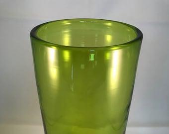 Blenko 749S vase in Olive by John Nickerson