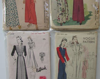 1940s Vintage Robe Patterns - Group 2