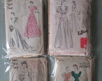 1940s Wedding Gown Bridal Patterns