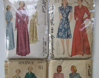 1940s Vintage Robe Patterns - Group 1