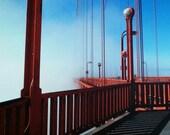 "8x10 Metal Print | ""Golden Hour"" | Golden Gate Bridge, San Francisco, California | Gift for Men, Groomsmen, Father, Best Man, Wedding"