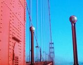 "8x10 Metal Print | ""Her Hardest Hue To Hold"" | Golden Gate Bridge, San Francisco, California | Men, Groomsmen, Father, Best Man Gift"