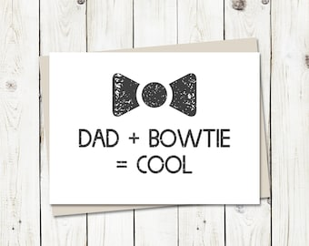 Bowties Are Cool - Father's Day Card - Doctor Who Inspired - Greeting Card with envelope