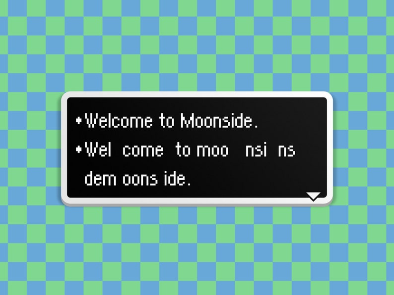 Welcome to Moonside  Earthbound Dialog Box image 0