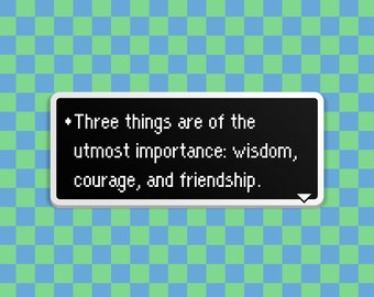 Three Important Things - Earthbound Dialog Box